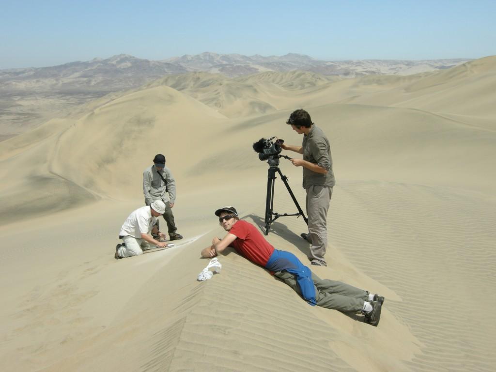 Dreharbeiten Pampa Blanca